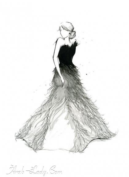 how to draw a flowy dress