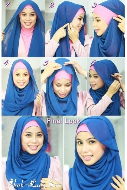 """تعليقان 2 : """"لفات حجاب جديده تعلميها ..."""