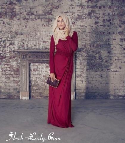 37e1659c8 أحدث تصاميم ملابس المحجبات لموسم 2014 - مجلة المرأة العربية