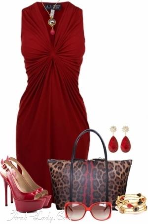 312929805 كولكشن فساتين قصيره باللون الأحمر الداكن - مجلة المرأة العربية