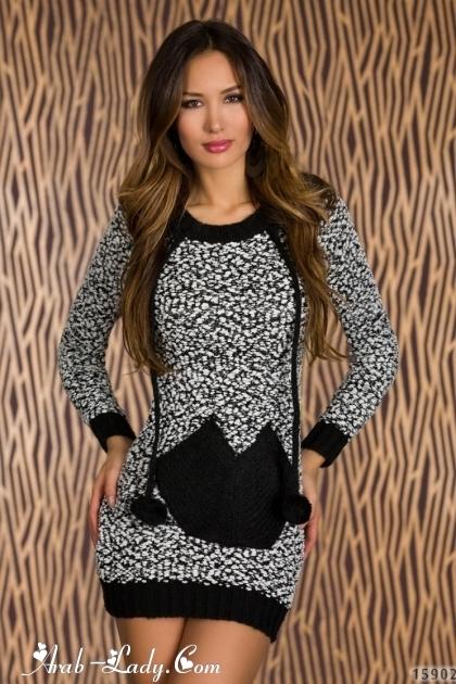 3768016c2 فساتين شتوية قصيرة على الموضة - مجلة المرأة العربية