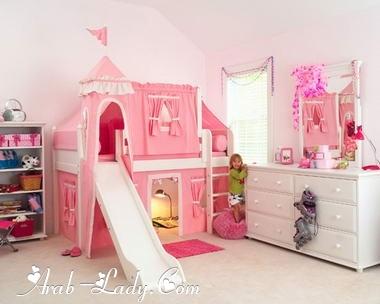 روعة اللون الوردي في غرف البنات   مجلة المرأة العربية