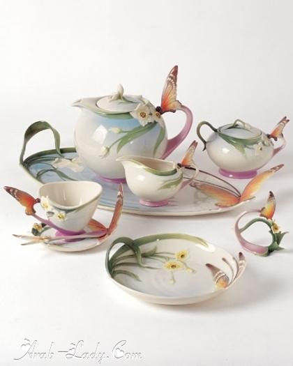 cb325653d أطقم شاي رائعه لصاحبات الذوق الرفيع - مجلة المرأة العربية