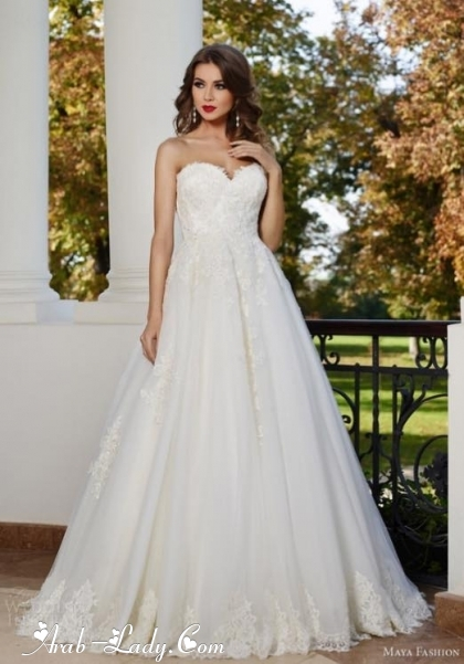 أحدث تصاميم فساتين زفاف 2015,