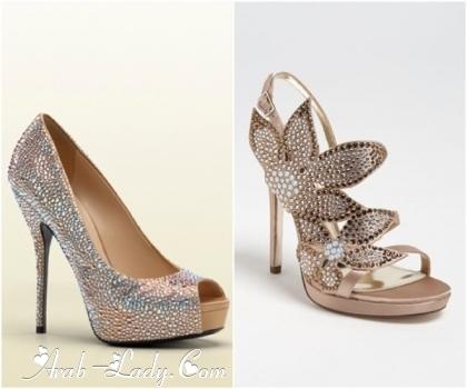 f3d295c36 نقدم لكم سيداتي في مجلة المرآة العربية هذه المجموعة من أحذية الكعب العالي  المناسبة للحفلات والتي ستزيد من جمال إطلالتكم .. اليكم الصور :