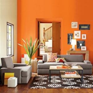 البرتقالي جمالية تمنح غرفة معيشتك أناقة مميزة في الخريف