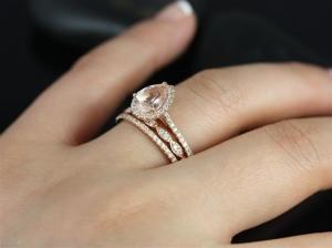 خواتم الزواج بالذهب الوردي لمسة راقية تميزك في يوم الزفاف