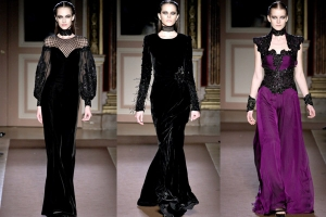 إطلاق تشكيلة راقية من الفساتين بالقماش المخمل الناعم لشتاء 2017