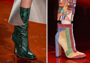 أسبوع الموضة في ميلانو يقدم مجموعة من الأحذية الغريبة في تصميمها