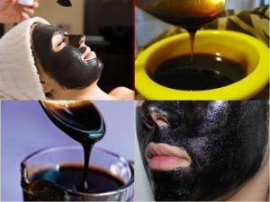 قناع العسل الأسود لعلاج مشكلات البشرة الدهنية