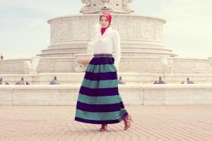 تميزي بحجابك مع الأزياء المقلمة الخاصة بموسم خريف 2016