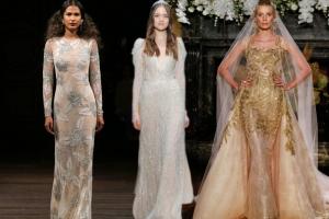 تألقي يوم زفافك باختيار الفستان بلمسة الميتاليك الراقية لموسم ربيع 2017