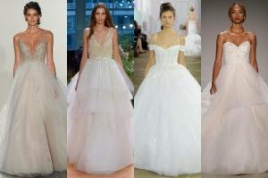 تنورة سندريلا أناقتك المثالية في فستان الزفاف لموسم ربيع 2017