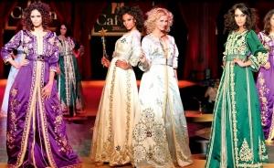 القفطان المغربي يتألق بجمالية في عروض الأزياء الخاصة بموسم ربيع 2017