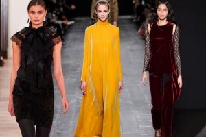 تألقي بجمالية القماش المخمل بالألوان المتنوعة في صدارة أزياء 2017