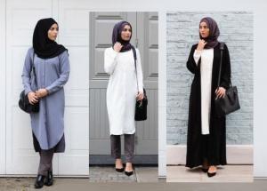 الملابس الكلاسيكية أناقة تميز إطلالات المحجبات في ربيع 2017