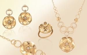 تشكيلة من المجوهرات الذهبية تميز النساء في احتفالات رأس السنة الجديدة 2017