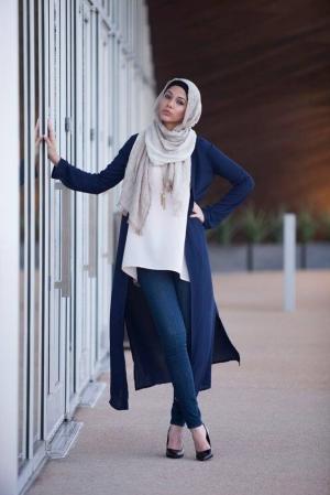 الكارديجان الطويل الصوفي أناقة مميزة للمرأة المحجبة في شتاء 2017