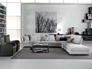 جمالية الأبيض والرمادي تمتزج في غرفة الجلوس الخاصة بموسم 2017
