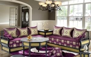اختاري جاذبية الألوان المنعشة في الصالون المغربي