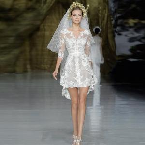 تشكيلة ناعمة من فساتين الزفاف القصيرة من توقيع نخبة من المصممين