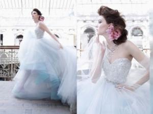 باقات راقية من فساتين الزفاف بألوان الباستيل تمنح كل عروس أناقة مثالية