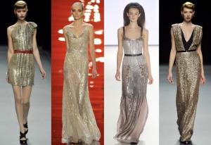 فساتين الميتاليك تحتل المراتب المتقدمة في صيحات الموضة الربيعية