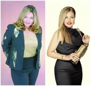بالصور| مشاهير قبل وبعد خسارة الوزن