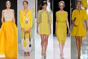 الأصفر جاذبية ساحرة تميز عروض أزياء الربيع لموسم 2017