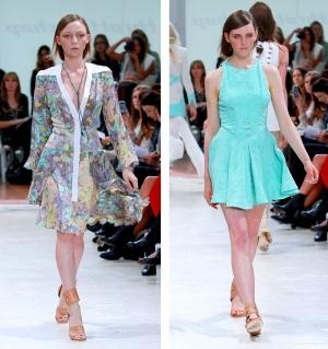 لمسة من فساتين الخمسينات تعود بقوة إلى ساحة عروض الأزياء الحالية