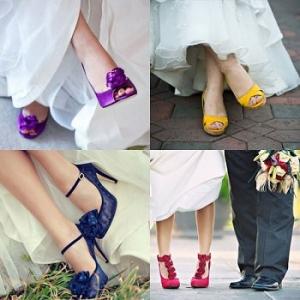 لعشاق الخروج عن المألوف.. اختاري حذاء زفافك ملون