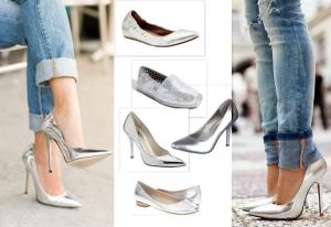 اختاري اللون الفضي في أحذية السهرات لتتألقي بجاذبية ناعمة
