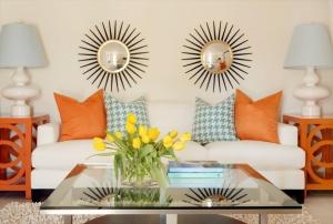 امنحي منزلك أناقة جذابة مع لمسة من الديكورات باللون البرتقالي الناعم