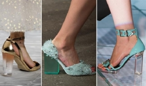 خامة الكعب الشفاف جاذبية راقية في أحذية ربيع 2017