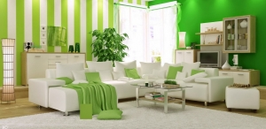 اختاري الأخضر الفاتح لتمنحي منزلك انتعاش الصيف في موسم 2017