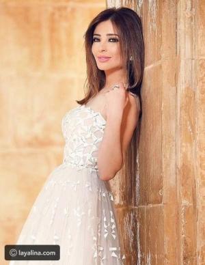فستان عقد قران وفاء الكيلاني للمصمم أنطوان القارح