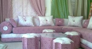 اللون الزهري أناقة تدخل على جمالية الصالون المغرب