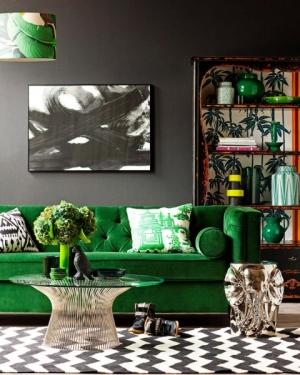 اجعلي منزلك منعشا ومميزا بلمسة من اللون الأخضر في الديكورات