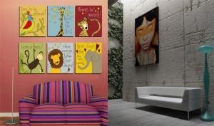 اعتمدي اللوحات الفنية لمنح جدران المنزل غنى وانتعاش مميز