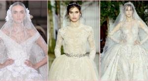 شاهدي فساتين الزفاف بأسبوع الموضة بباريس