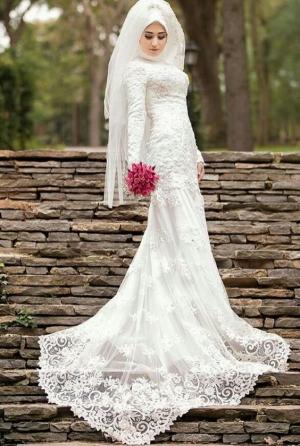 بالصور| فساتين زفاف للمحجبات موضة 2017