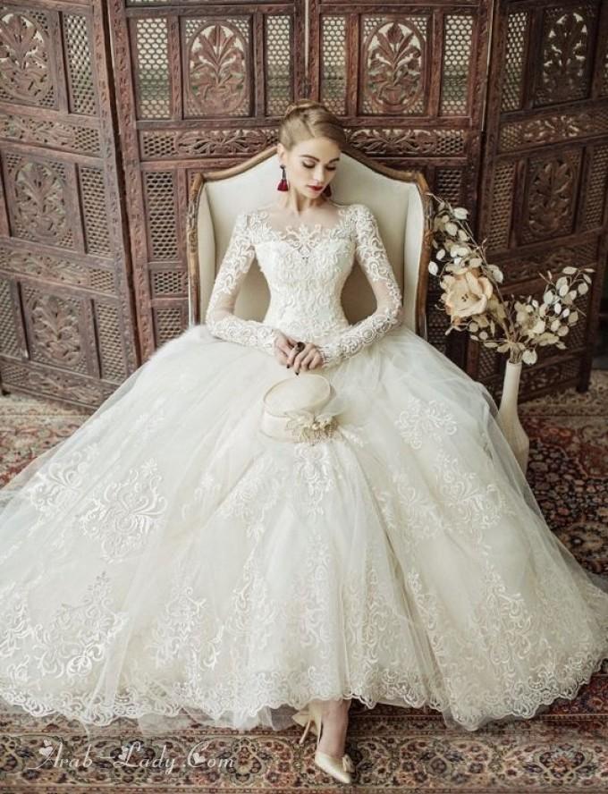 cae457287 بالصور: موديلات أكثر من رائعة من فساتين الزفاف المنفوشة لكل عروس ...